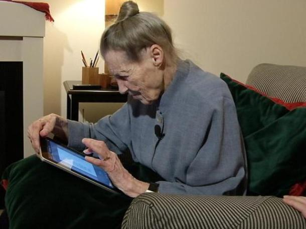 Old Lady iPad