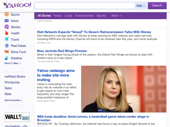 """To the quarterback who wouldn't date me in high school, I'm on the Yahoo! home page, and I'm CEO, bee-otch."""