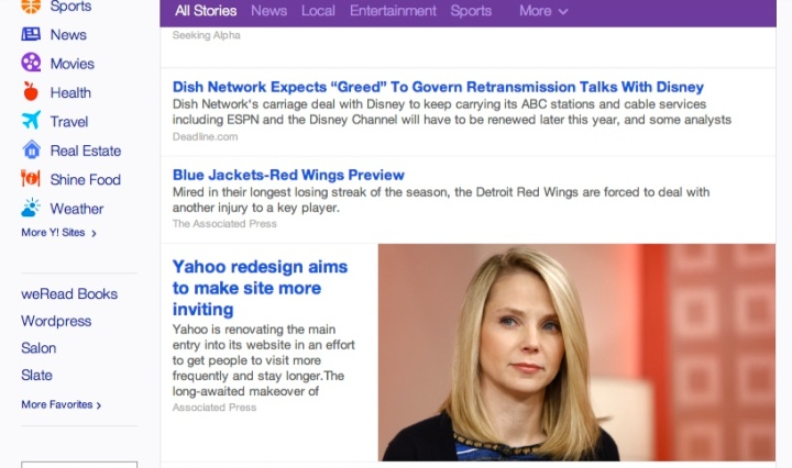 Marissa Mayer Uses Her Own Face to Upgrade Yahoo!